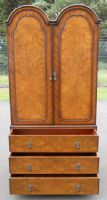 Walnut Dome Top Wardrobe by Maples & Co